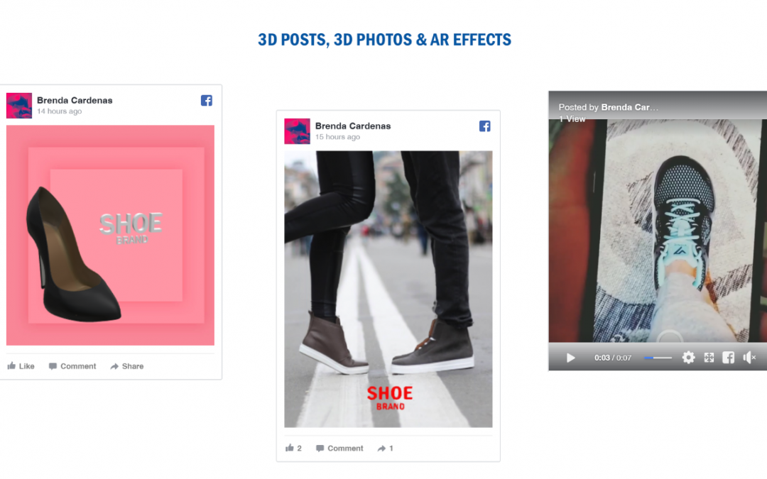 How to use Facebook's 3D Photos, 3D Posts and AR Effects for Marketing