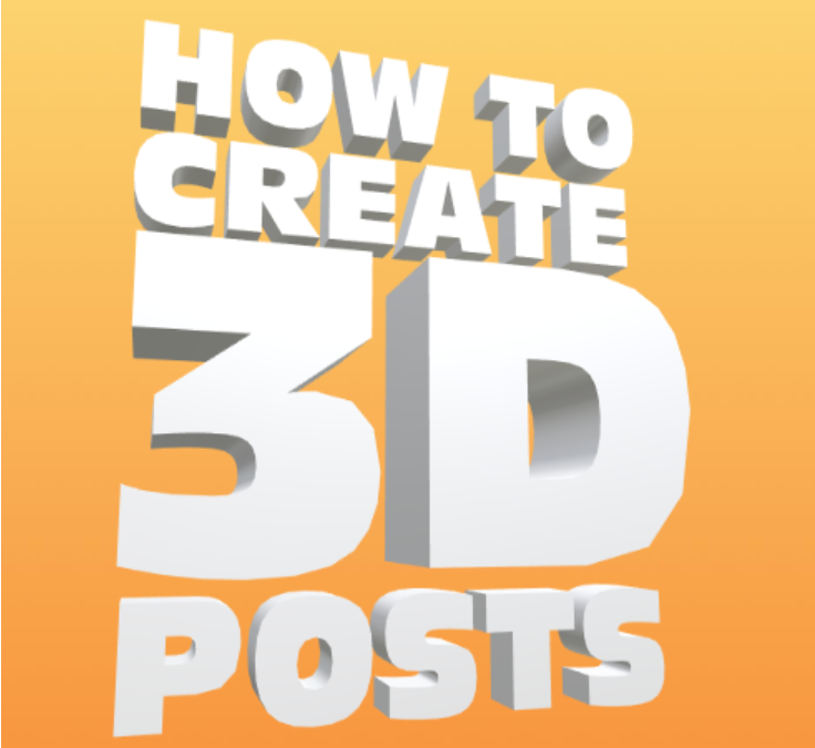 How To Make 3D Posts on Facebook